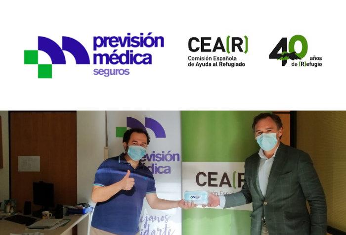Donación de 4000 mascarillas a CEAR
